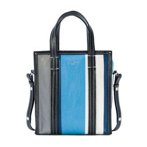 Imagem de Balenciaga Bolsa tote 'Stripe Bazar XS' - Azul