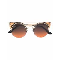 Bulgari Óculos De Sol Gatinho - Metálico
