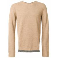 Comme Des Garçons Shirt Boys Suéter Decote Arredondado De Lã - Brown