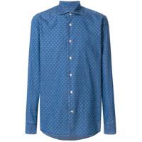 Borriello Camisa Jeans Com Estampa - Azul