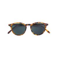 Pantos Paris Óculos De Sol Redondo Tartaruga - Marrom