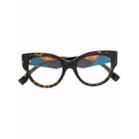 Fendi Eyewear Armação De Óculos Oversized - Marrom