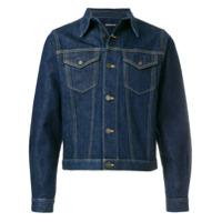 Calvin Klein Jeans Jaqueta Jeans Cropped - Azul