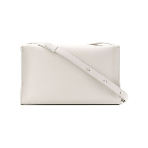 Imagem de Aesther Ekme Bolsa tiracolo 'Soft Box' de couro - Branco