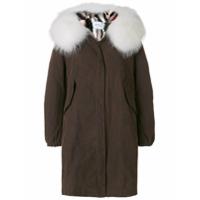 Forte Dei Marmi Couture Casaco Com Detalhe De Pele - Brown