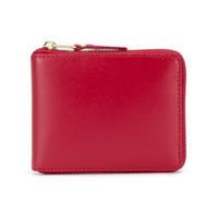 Comme Des Garçons Wallet Carteira De Couro 'colour Line' - Vermelho
