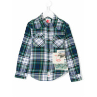 American Outfitters Kids Camisa Xadrez - Green
