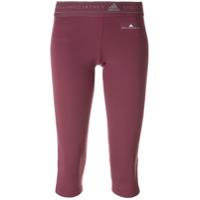 Adidas By Stella Mccartney Calça Esportiva Cropped - Pink & Purple