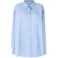 Push Button Camisa Oversized - Azul