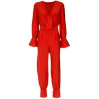 A.brand Macacão Com Amarração - Vermelho