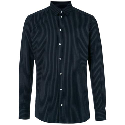 Dolce & Gabbana Camisa listrada - Preto