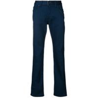 Armani Collezioni Calça Jeans Reta Com Cinco Bolsos - Azul