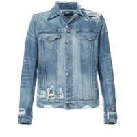 Amiri Jaqueta Jeans Destroyed - Azul