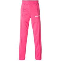 Palm Angels Calça Esportiva Com Logo - Pink & Purple