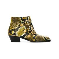Chloé Ankle Boot 'susanna' De Couro - Green