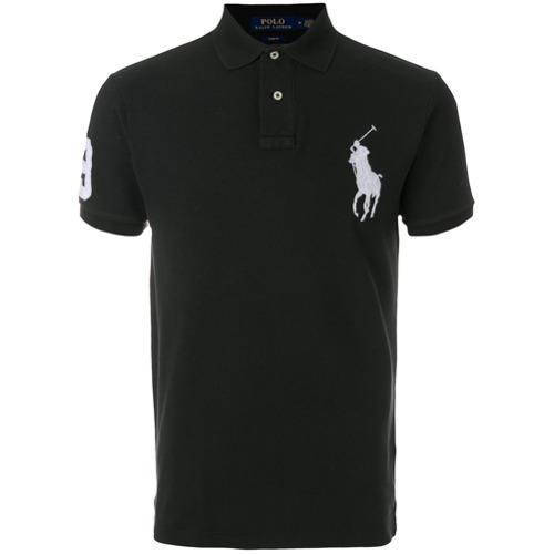 Promoção de Polo ralph lauren camisa com logo bordado preto farfetch ... 5af1d504a1f