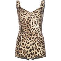 Dolce & Gabbana Body Animal Print - Brown