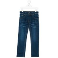Boss Kids Calça Jeans Slim - Azul