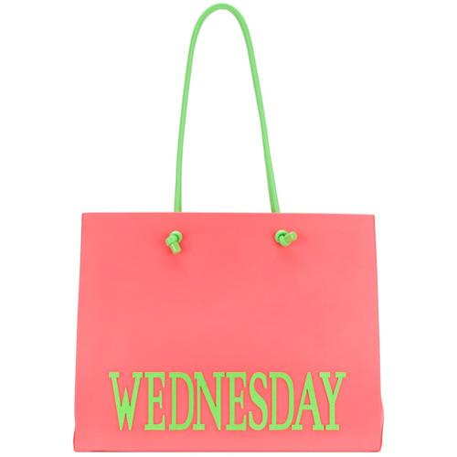 Imagem de Alberta Ferretti Bolsa tote grande 'Wednesday' - Rosa