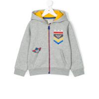 Armani Junior Moletom Com Bordado De Logo - Grey