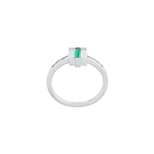 Imagem de V Jewellery Anel 'Chrysler' com emeralda - Metálico