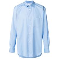 Comme Des Garçons Shirt Camisa Com Patch - Azul