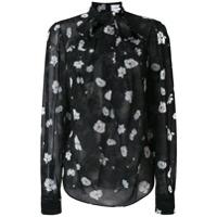 Carven Camisa Com Estampa Floral - Preto
