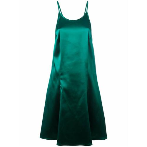 Vestido verde esmeralda, Attico.
