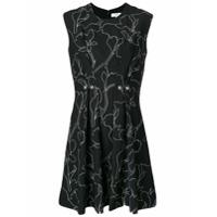 Carven Vestido Estampado - Preto