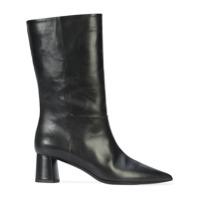Deimille Ankle Boot De Couro - Preto