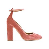 Aquazzura Sapato 'alix' De Veludo - Pink & Purple