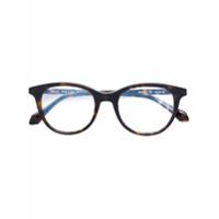 Brioni Óculos Tartaruga Com Armação Arredondada - Brown