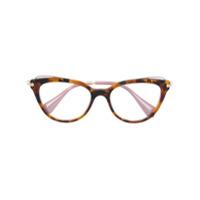 Miu Miu Eyewear Armação De Óculos Gatinho - Brown