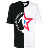 Dirk Bikkembergs Camiseta Com Estampa Assimétrica - Preto