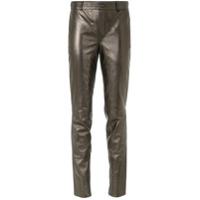 Tufi Duek Calça Skinny De Couro - Metallic