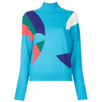 Delpozo Suéter Color Block - Azul
