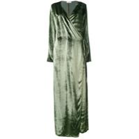 Attico Vestido Longo Transpassado - Green
