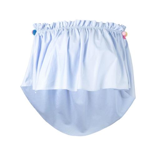 Forte Dei Marmi Couture Blusa com babado - Azul
