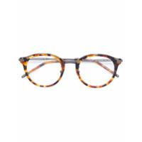 Bottega Veneta Eyewear Óculos Com Armação Arredondada - Marrom