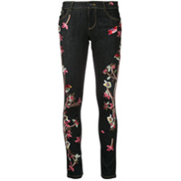 Alice+Olivia Calça Jeans Skinny Slim Fit Com Bordado - Azul