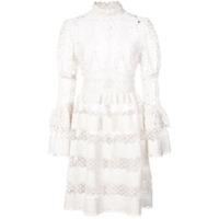 Anna Sui Vestido Com Renda - Branco