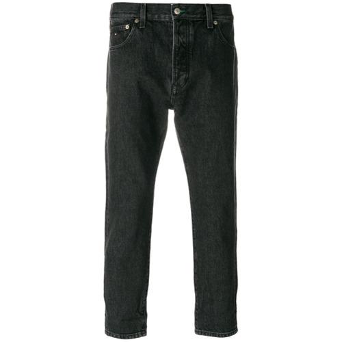 Calça jeans reta cintura baixa preta em algodão , TOMMY JEANS.