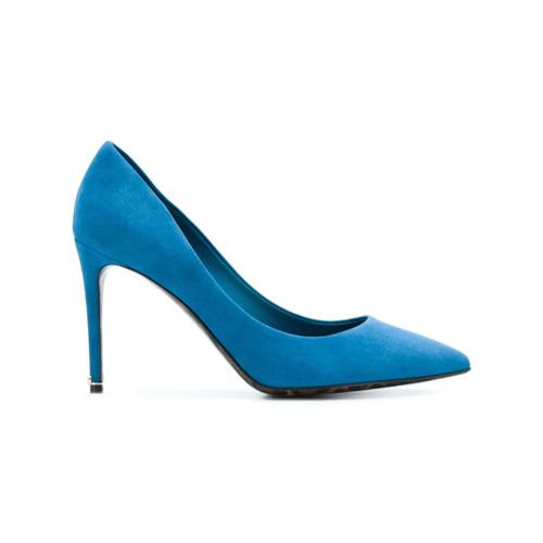 Imagem de Dolce & Gabbana Scarpin de camurça com solado de oncinha - Azul