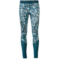 Adidas By Stella Mccartney Legging Com Estampa Camuflada - Azul