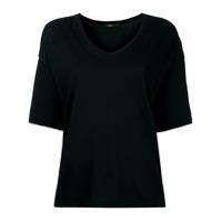Bassike Camiseta Gola V - Preto