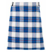 Givenchy Shorts De Alfaiataria Xadrez - Azul