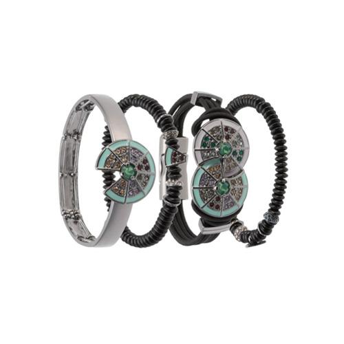 Imagem de Camila Klein Kit 4 pulseiras com strass - Metallic
