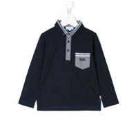 Boss Kids Camisa Polo Clássica - Azul