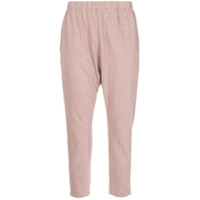 Bassike Calça Cropped 'french Terry' - Rosa