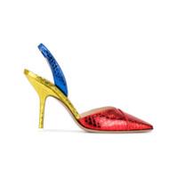 Attico Sapato Color Block De Couro - Estampado